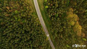 Zdjęcie z drona - droga śląsk