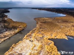 Jezioro Dzierżno z lotu ptaka