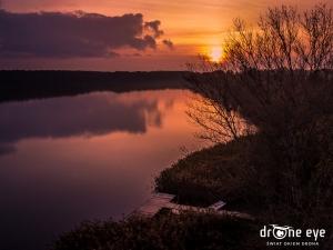 Pławniowice zachód słońca - Świat okiem drona