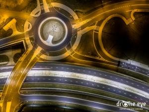 Rondo DTŚ Gliwice - drone eye