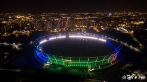 Stadion Ślaski Chorzów Katowice z drona drone eye